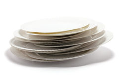 Stack of Paper Plates Royalty Free Stock Photos