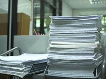 Stack of paper for recycle and reuse. In the office Royalty Free Stock Photography