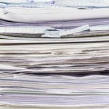Stack of paper sheets Stock Photo