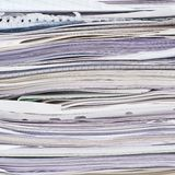 Stack of paper sheets Stock Photos