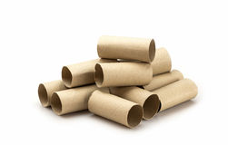 Stack of paper tube Stock Photos