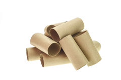 Stack of paper tube Stock Photo