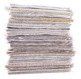 Stack of paper on a white Stock Image