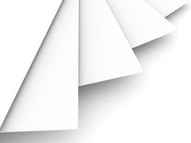 Stack Of Paper White Background Royalty Free Stock Photography