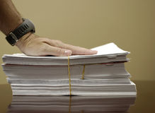 Stack of Papers Stock Photography