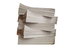 Stack of papers. 5 stacks of brown papers Stock Photos