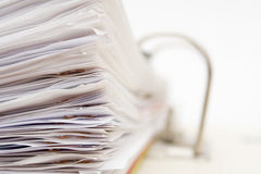 Stack of papers royalty free stock photography