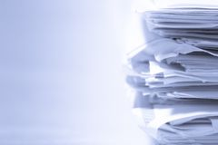 Stack of papers Royalty Free Stock Photos