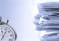 Stack of papers Stock Image