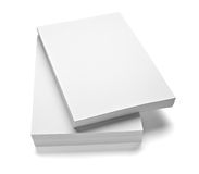 Stack of papers. Close up of stack of papers on white background Royalty Free Stock Photos