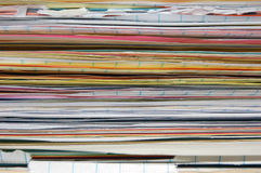 Stack of papers. A close up of various papers stacked Royalty Free Stock Images