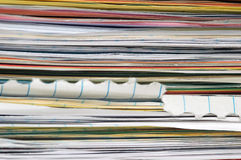 Stack of papers. A close up image of a large stack of papers Royalty Free Stock Photo