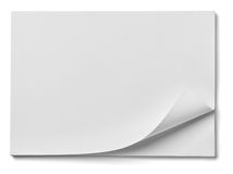 Stack of papers with curl documents office business Stock Photography