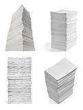 Stack of papers with curl documents office business Royalty Free Stock Photography