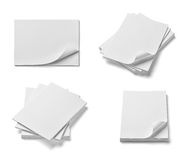 Stack of papers with curldocuments office business Royalty Free Stock Photography