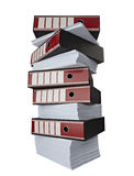 Stack of papers documents stock photography