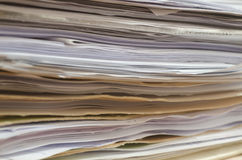 Stack of papers Stock Images
