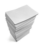 Stack of papers documents office business Royalty Free Stock Photo