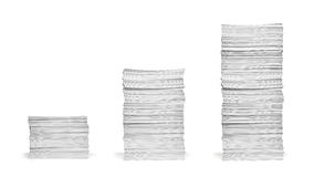 Stack of papers documents office business Royalty Free Stock Photos