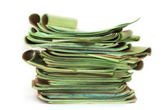 Stack of papers isolated Stock Images