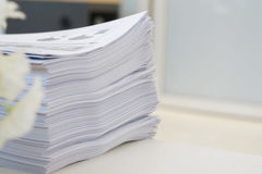 Stack of papers work at office royalty free stock photo