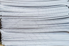 Stack Paperwork Brochures royalty free stock images