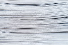 Stack Paperwork Brochures. Stack of wire stitched brochures Royalty Free Stock Image