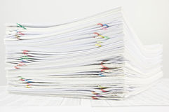 Stack paperwork of sales and receipt Stock Photography
