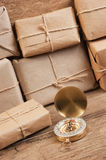 Stack parcel  in warehouse Royalty Free Stock Photography