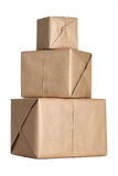 Stack of parcels Stock Photo