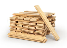 Stack of parquet. Royalty Free Stock Photo