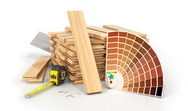 Stack of parquet. Stock Photography