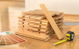 Stack of parquet. Stock Image