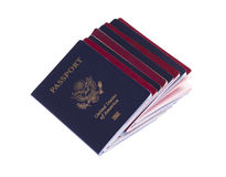 Stack of passports 04 Stock Images