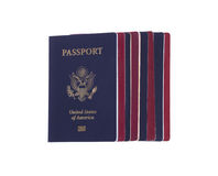 Stack of passports Royalty Free Stock Photos