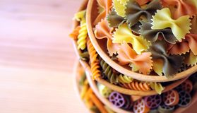 Stack of pasta bowls Stock Images