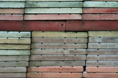 Stack of pavements. Close-up of stack of old unused pavement stones Royalty Free Stock Photos