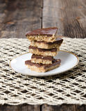 Stack of Peanut Butter Chocolate Dessert Royalty Free Stock Photo