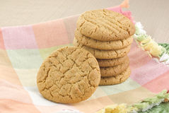 Stack of Peanut Butter Cookies Stock Photography