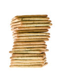Stack of peanut butter craker Royalty Free Stock Image