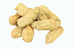 Stack of peanuts isolate Stock Photography