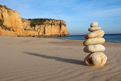 Stack of pebble on beach Royalty Free Stock Image