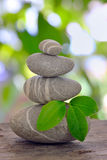Stack of pebble Stock Images