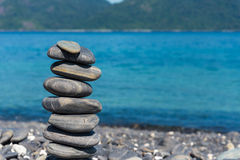 Stack pebble stone Royalty Free Stock Images