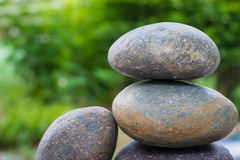 Stack of pebble stone Stock Photos