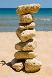 Stack of pebble stones Stock Images