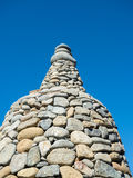 Stack of pebble stones. At asia Buddha temple Royalty Free Stock Photos