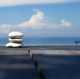 Stack of pebble stones at the beach Royalty Free Stock Image