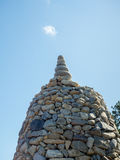 Stack of pebble stones. At Haedong Yonggungsa Temple in Busan, South Korea Stock Photography
