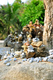 Stack of pebble stones Royalty Free Stock Photography